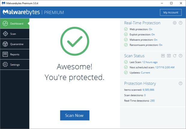 Benutzeroberfläche des neuen Programms; Bildquelle: blog.malwarebytes.com