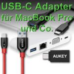 Preiswerte USB-C Adapter fürs MacBook Pro late 2016, Smartphone und Tablet
