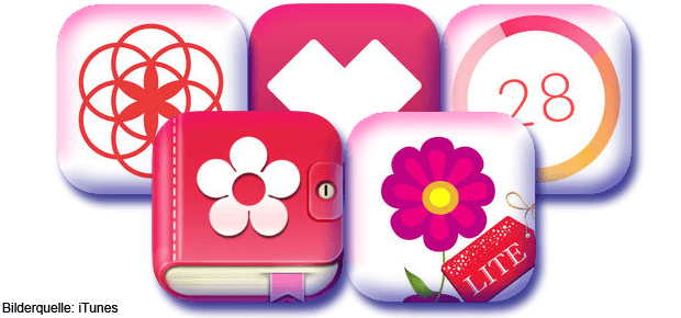 Zyklus Apps für iOS: Clue, Menstruations Kalender, Life, Period Tracker, Menstrual Calendar und wie sie nicht alle heißen. Sie alle funktionieren sehr verallgemeinernd und werden von professionellen Geräten wie dem Clearblue Advanced Fertilitätsmonitor übertroffen.