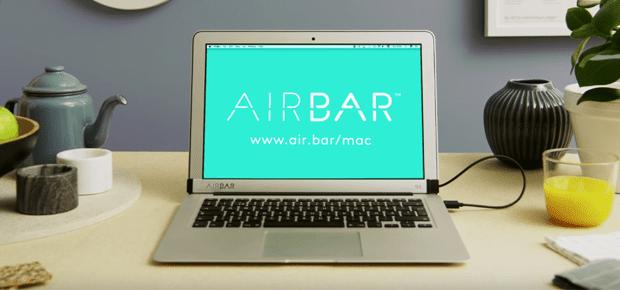 Die AirBar für das Apple MacBook Air wird derzeit auf der CES 2017 in Las Vegas vorgestellt. Bildquelle: YouTube / AirBar