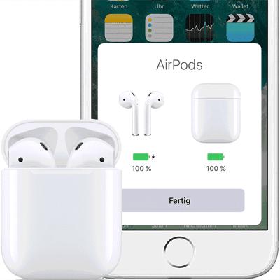 AirPods mit dem iPhone verbinden und Probleme beim Pairing lösen bzw. die AirPods auf Werkseinstellungen zurücksetzen - so geht's! (Bilderquelle: Apple.com)