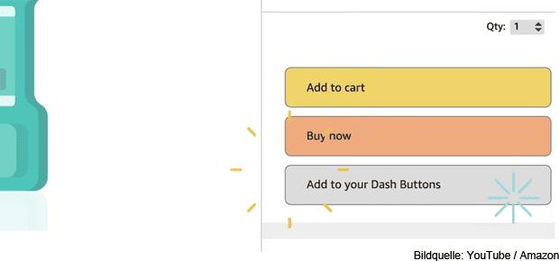 Your Dash Buttons: Amazon stellt für den US-Markt virtuellen Dash Button für die Webseite und die Amazon App vor.