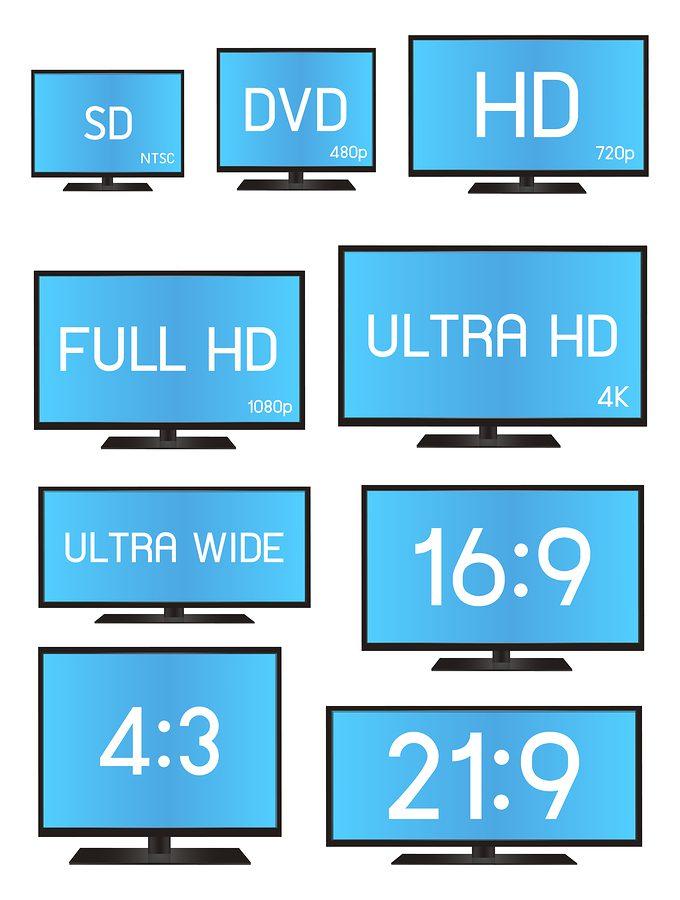 Monitor Formate im Vergleich: neben Ultrawide Monitoren sieht man hier auch das Größenverhältnis von einem 21:9 Bildschirm