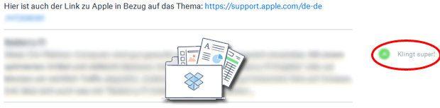 Dropbox Paper ist ein einfach zu bedienender Dienst zum Teilen und gemeinsamen Bearbeiten von Texten. Kommentare und das Einfügen von Bildern ist möglich. Besprechungen für Sir-Apfelot.de werden damit realisiert ;)