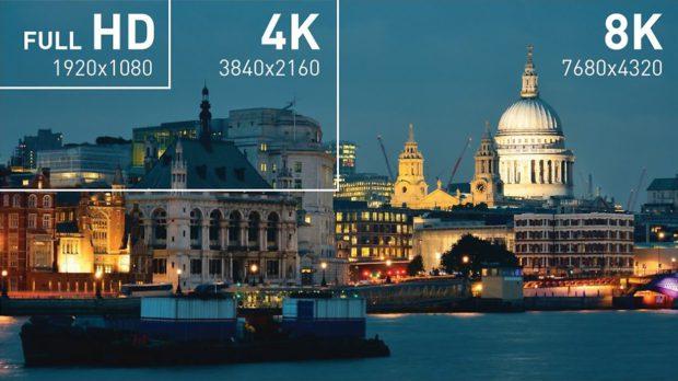 Vergleich Full HD 4K 8K HDMI 2.1