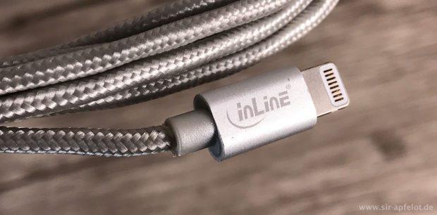 Sowohl der Lightning- als auch der USB-Stecker sind teilweise aus Aluminium hergestellt und wirken sehr hochwertig.