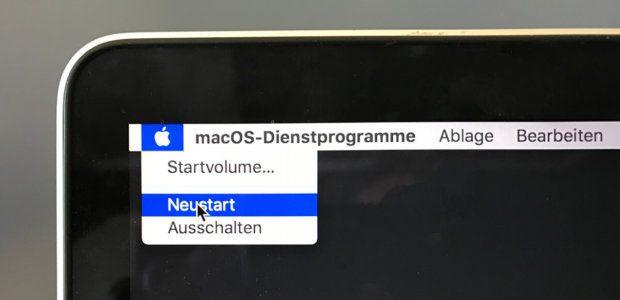 Nachdem das Dienstprogramm erfolgreich genutzt wurde, wird der Mac neugestartet. Nach dem Neustart wird das System Passwort bereits für den Boot abgefragt.