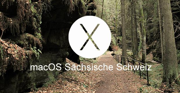 Noch steht für macOS 10.13 kein Name fest. Wie wäre es mit macOS Sächsische Schweiz? (Hintergundfoto: Johannes Domke)