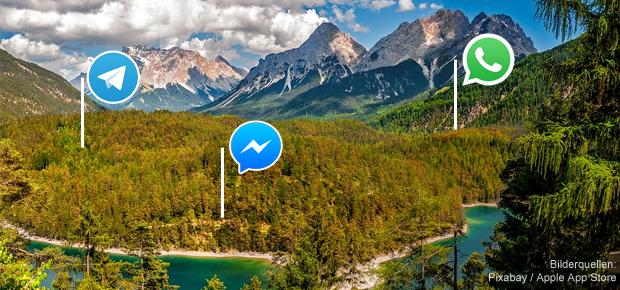 Unterwegs Messenger ohne Datentarif, Empfang oder WLAN nutzen - das geht im begrenzten Rahmen. In diesem Ratgeber-Artikel bekommt ihr Tipps für die Nutzung von Chat Apps auf Reisen.