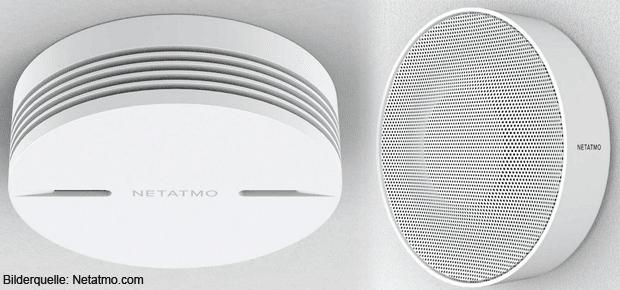 Netatmo Rauchmelder und Innenraumsirene für die Kopplung mit der Welcome WLAN-Überwachungskamera. Sicherheit fürs Smart Home inkl. Kompatibilität mit dem Apple HomeKit.