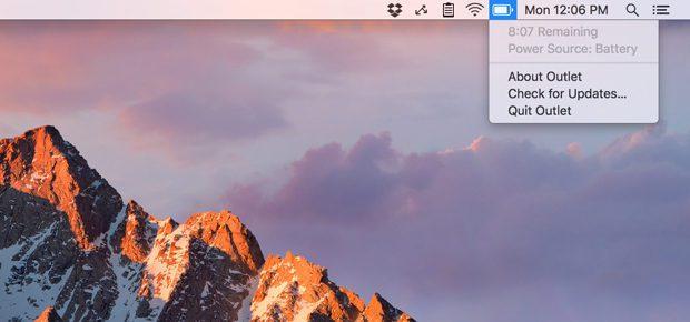Die macOS App Outlet zeigt euch wieder die geschätzte Restlaufzeit des MacBook Akkus an. (Bild: createlivelove.com)