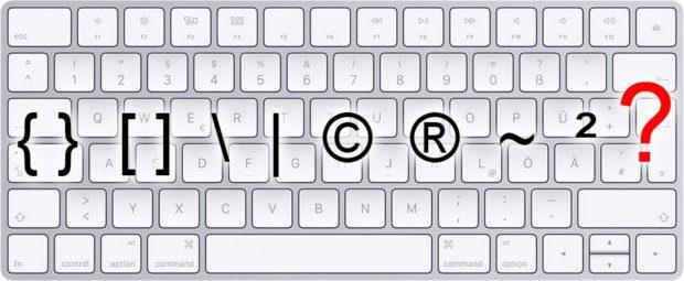 Geschweifte Klammern per Tastaturkürzel schreiben (Mac)