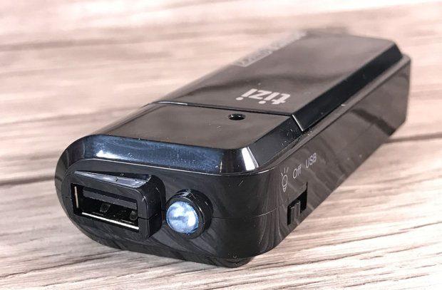 Im Betrieb mit NimH-Akkus (nicht empfohlen vom Hersteller) bekommt die LED einfach zu wenig Spannung und funktioniert sehr dürftig.