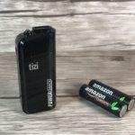 Im Test: tizi PowerSnack Powerbank mit konventionellen AA-Akkus bzw. AA-Batterien