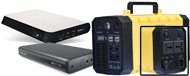 Mobile Stromversorgung von Smartphone, Laptop, Haushaltsgeräten und so weiter: die Powerbank, die Ultrabank und den fetten Stromkasten sowie Details zu allen mobilen Stromquellen gibt's bei Amazon. Bildquelle: Amazon