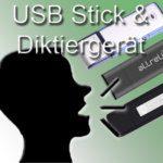 USB Stick und digitales Diktiergerät in einem: 2 in 1 Flash Drive für Sprachaufnahmen