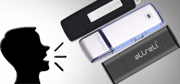 USB Stick und digitales Diktiergerät in einem: mit einem USB Voice Recorder Stick könnt ihr Daten sichern und Gespräche aufzeichnen. Produktbilder: Amazon