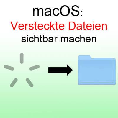 Versteckte Dateien und versteckte Ordner sichtbar machen unter macOS Sierra am Apple Mac, iMac oder MacBook mit einfacher Tastenkombination / Shortcut mit CMD Shift und Punkt Taste.