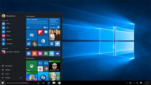 Microsoft Windows 10 läßt sich auch vom USB Stick installieren. Das System von MS hat nicht nur optisch viel zu bieten, sondern wurde auch unter der Motorhaube komplett runderneuert (Foto: microsoft.com).