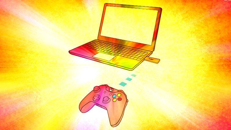 Mit einem Wireless Adapter für Windows könnt ihr auf einem WIndows PC mit einem Xbox One Controller spielen (Grafik: xbox.com).