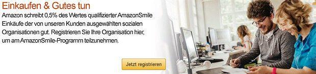 Amazon Smile anmelden, eigene Organisation eintragen, registrieren, anmelden, Spenden erhalten