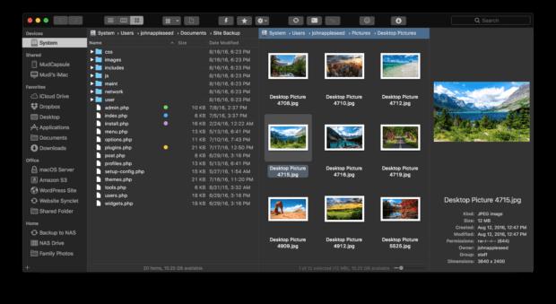 Der Dark Mode der Mac App sorgt dafür, dass eure Augen geschont werden. So könnt ihr Tag und Nacht mit ForkLift 3 die Dateien auf eurem Mac oder MacBook managen. Derzeit ist der Download günstig!