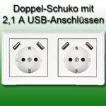 Minadax USB-Steckdosen: Erste Unterputz-Doppeldosen mit 2,1A (kein VDE)