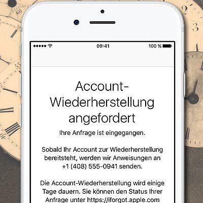 Apple ID vergessen, Apple-ID, iCloud Passwort wiederherstellen, iCloud- Konto, Account Wiederherstellung beantragen, iPhone, Mac, Support