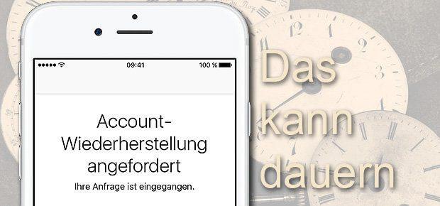 Ihr habt das iCloud Passwort vergessen und wollt den Account wiederherstellen lassen? Dier Antrag an sich geht schnell, die Prozedur danach kann Zeit in Anspruch nehmen. Geduld ist gefragt.
