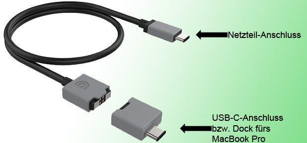 Ab Q2 2017: Das Griffin BreakSafe Ladekabel mit USB-C Anschluss und 100W Leistung für das MacBook Pro late 2016. 2017 Amazon