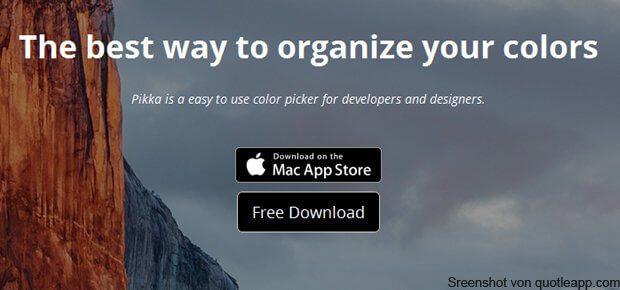 Pikka Color Picker als App für Mac, MacBook und Co. Ein Programm, das App-übergreifend Farben bestimmt und ablegen kann. Details zur DigitalColor Meter Alternative in diesem Artikel.