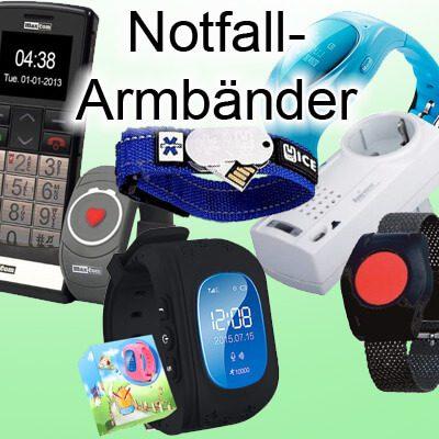 Es gibt verschiedene Varianten der Notfall-Armbänder. Welches man nutzen möchte, hängt vom Anwendungsfall ab.