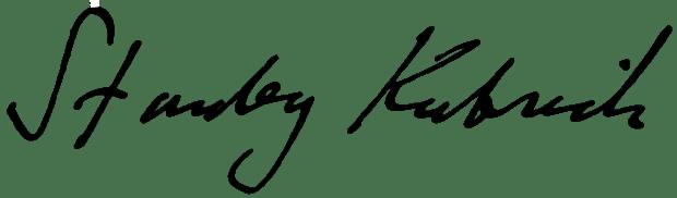 Stanley Kubrick Signature Unterschrift Signatur Schreibstil Handschrift