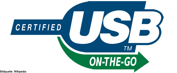 USB OTG steht für USB On The Go. Wenn ein Gerät oder Kabel dieses Logo trägt (evtl. nur auf der Verpackung), dann kann es für USB OTG Anwendungen genutzt werden.
