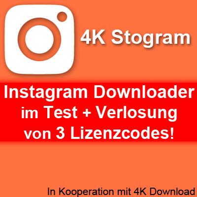 Instagram Downloader free, 4K Stogram, Bilder von Instagram downloaden speichern runterladen, Videos von Instagram herunterladen