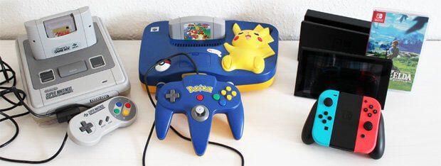 SNES, N64, Nintendo 64, Nintendo Switch, Vergleich, Größe, Controller