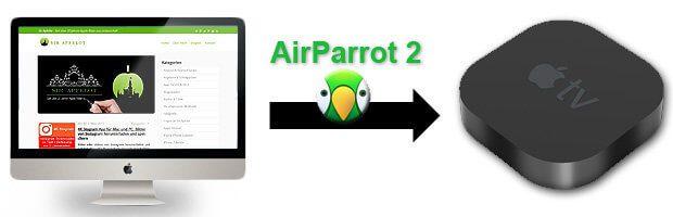 AirParrot 2 ist eine AirPlay Alternative, die auf neuen und alten Mac und MacBook Modellen Inhalte auf den Apple TV und andere Geräte streamt. Mac iMac vor 2011