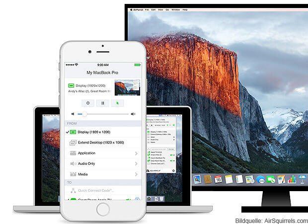 Mit der AirParrot Remote App könnt ihr ohne aufzustehen bequem Inhalte vom Mac oder MacBook auf den Fernseher streamen. Ideal für den spontanen Videoabend - auch mit alten Macs von vor 2011.