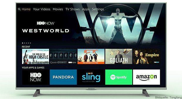 Der Amazon TV als 4K UHD Fernseher mit Fire OS und Alexa Sprachsteuerung, hergestellt von Tongfang, könnte noch 2017 in Deutschland zu kaufen sein. Wer weiß?