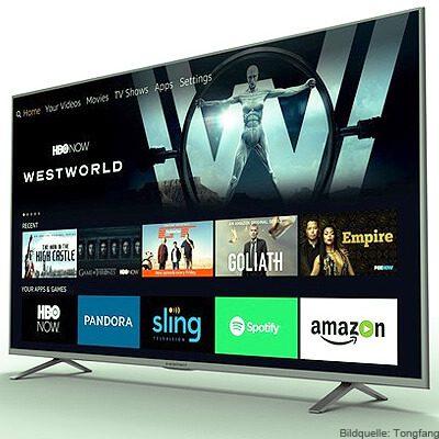 Amazon TV Fire OS Fernseher 4K Auflösung 43 Zoll, 50 Zoll, 55 Zoll und 65 Zoll 2017 Tongfang