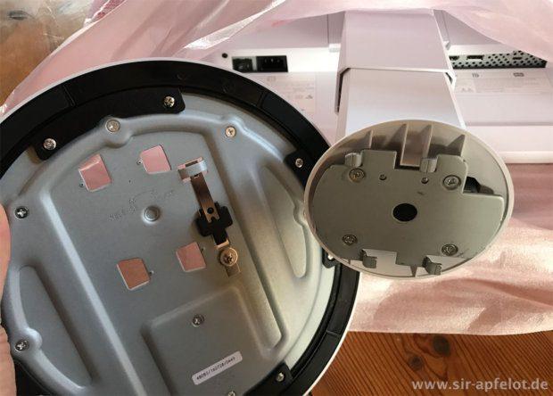 Der Aufbau des EV2780 FlexScan geht sehr einfach von der Hand. Eine Montageanleitung liegt trotzdem bei, damit man auch alle Sicherungsschrauben an die richtigen Plätze bringt (Fotos: Sir Apfelot).