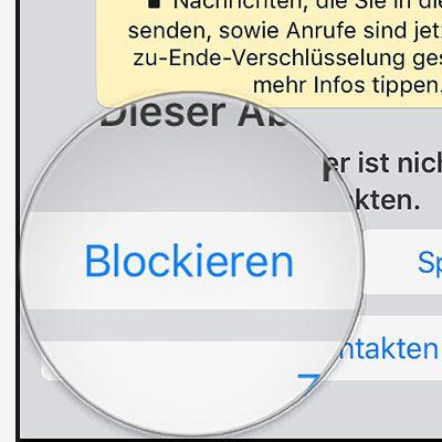 Kontakte blockieren bei WhatsApp auf iOS iPhone von Apple
