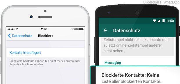 whatsapp blockierte kontakte löschen