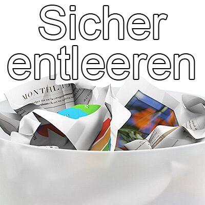 Mac Papierkorb sicher entleeren: Alternative CleanMyMac Vernichter, macOS Sierra 10.12, OS X El Capitan 10.11, Dateien überschreiben nicht wiederherstellen, für immer löschen, dauerhaft entfernen