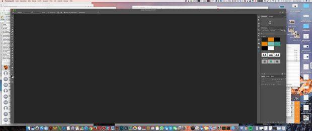 Adobe Photoshop CC macht einen Workspace mit grauen Hintergrund – auch wenn man keine Datei mehr geöffnet hat. Für viele Benutzer eine unpraktische Sache.