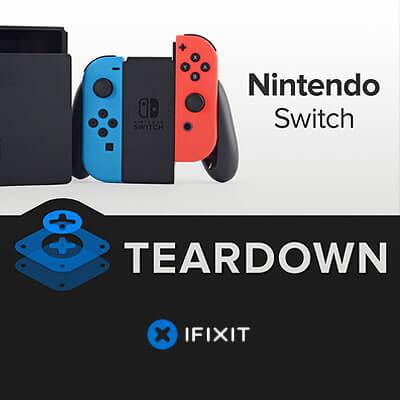Nintendo Switch sicher aufschrauben, auseinandernehmen, Anleitung für Reparatur, Joy-Con, Display. Akku mAh Kapazität, Schraubenzieher Tripoint, iFixit Teardown Nintendo Switch