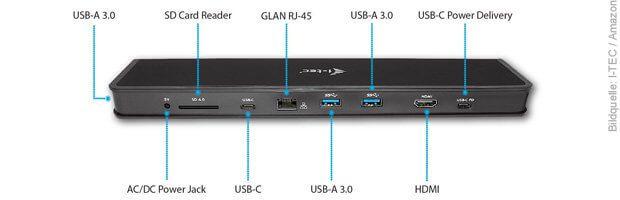 MacBook Pro 2016 USB-C Thunderbolt 3 Dock mit USB-A 3.1 3.0 , HDMI, SD Karte Kartenleser Lesegerät