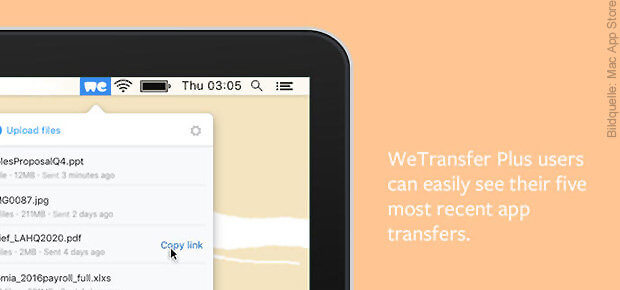 WeTransfer Plus bringt zusätzliche Vorteile, kostet pro Monat aber 10 Euro - eher etwas für professionelle Nutzer, die mit Büro, Kunden, Auftraggebern, etc. Dateien teilen wollen.