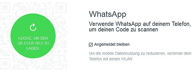 WhatsApp Web QR Code laden, Webseite zum Verwenden von WhatsApp auf Windows PC, Mac Computer, iPad Tablet, macOS, OS X.