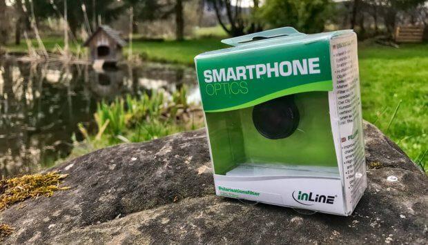 Der CPL-Filter von inLine eignet sich sowohl für Android-Smartphones wie auch für Apple iPhones… nur mit dem iPhone 7 Plus gibt es Probleme beim Anklipsen (Fotos: Sir Apfelot).